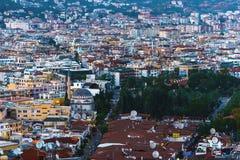 Vista di paesaggio urbano di Alanya Fotografie Stock