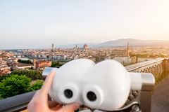 Vista di paesaggio urbano di Firenze Fotografia Stock