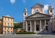 Vista di paesaggio urbano di Genova. fotografie stock