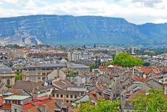 Vista di paesaggio urbano di Ginevra, Svizzera immagini stock libere da diritti