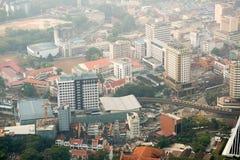 Vista di paesaggio urbano di Kuala Lumpur, Malesia Fotografia Stock Libera da Diritti