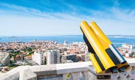 Vista di paesaggio urbano di Marsiglia. Fotografia Stock