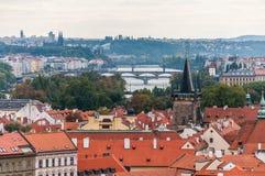 Vista di paesaggio urbano di Praga Fotografie Stock Libere da Diritti