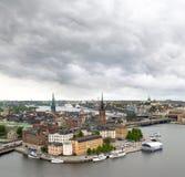 Vista di paesaggio urbano di Stoccolma Fotografia Stock Libera da Diritti