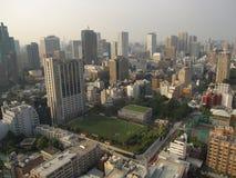 Vista di paesaggio urbano di Tokyo sulla zona centrale Fotografie Stock