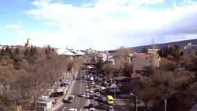 Vista di paesaggio urbano a Tbilisi, Georgia archivi video