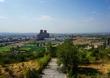 Vista di paesaggio urbano di Yerevan fotografie stock libere da diritti