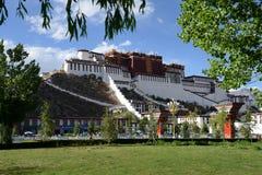 Vista di Palazzo del Potala Fotografia Stock