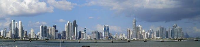 Vista di Panamá dalla vecchia città Fotografia Stock