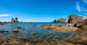 Vista di Panaroma in Playa del Silencio Immagine Stock Libera da Diritti