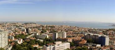 Vista di Panomaric sopra Lisbona Immagine Stock Libera da Diritti