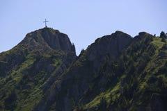 Vista di panorama alle alpi bavaresi Fotografie Stock Libere da Diritti