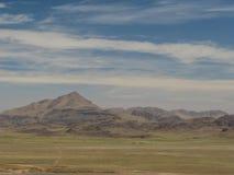 Vista di panorama alle montagne di atlante ed alla valle Marocco Immagine Stock Libera da Diritti