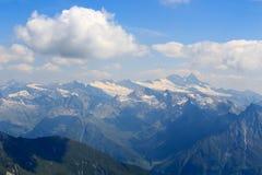 Vista di panorama con la montagna Grossglockner, alpi di Hohe Tauern, Austria Immagine Stock Libera da Diritti