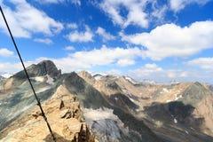 Vista di panorama con la montagna Grossvenediger, alpi di Hohe Tauern, Austria Immagine Stock Libera da Diritti