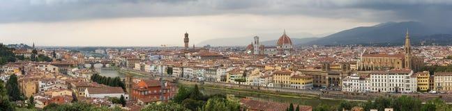 Vista di panorama del centro storico di Firenze Fotografie Stock Libere da Diritti