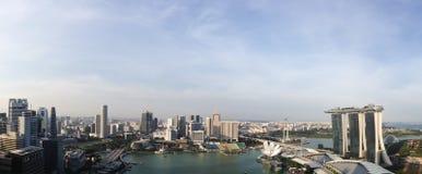 Vista di panorama della baia Singapore del porticciolo Fotografia Stock