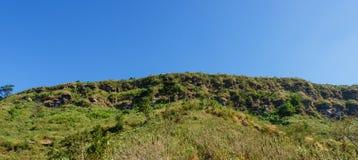 Vista di panorama della collina verde Fotografie Stock Libere da Diritti