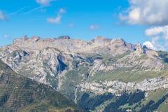 Vista di panorama della ROM svizzera Mannlichen delle alpi Fotografia Stock Libera da Diritti