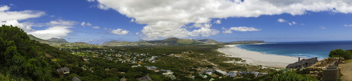 Vista di panorama della spiaggia di Città del Capo Fotografie Stock