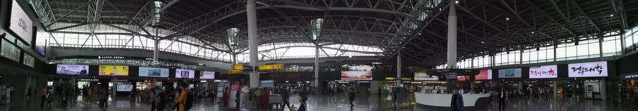 Vista di panorama della stazione ferroviaria di Busan Fotografia Stock Libera da Diritti
