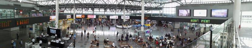 Vista di panorama della stazione ferroviaria di Busan Fotografie Stock Libere da Diritti