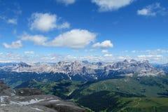 Vista di panorama delle alpi della dolomia bella Fotografie Stock Libere da Diritti