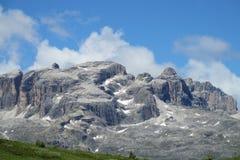 Vista di panorama delle alpi della dolomia bella Fotografia Stock Libera da Diritti