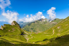 Vista di panorama delle alpi vicino a Rothorn Fotografia Stock