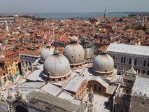Vista di panorama delle vie di Venezia Fotografia Stock