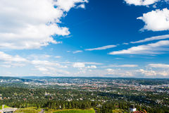 Vista di panorama di Oslo fotografie stock libere da diritti