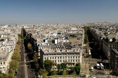 Vista di panorama di Parigi Fotografia Stock Libera da Diritti