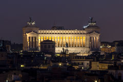Vista di panorama di Roma al tramonto Fotografia Stock