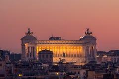 Vista di panorama di Roma al tramonto Fotografie Stock Libere da Diritti