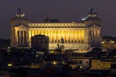 Vista di panorama di Roma al tramonto Immagini Stock