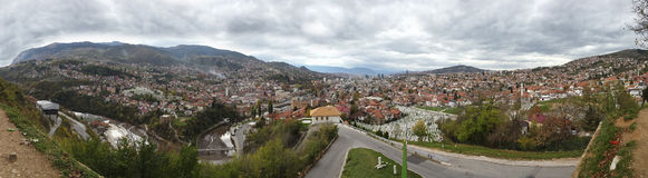 Vista di panorama di Sarajevo 1 Fotografia Stock Libera da Diritti