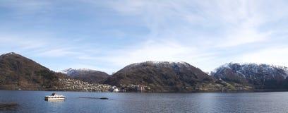 Vista di panorama di Vaksdal fotografia stock libera da diritti