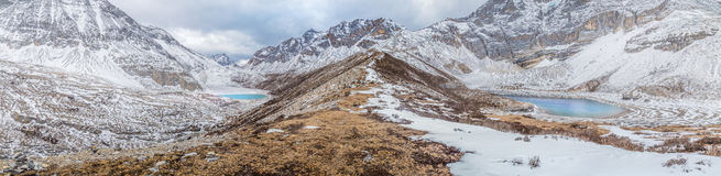 Vista di panorama di yading riserva nazionale, porcellana jpg Fotografie Stock