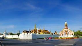 Vista di panorama fuori di Wat Phra Kaew Fotografie Stock