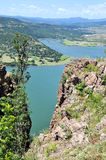 Vista di panorama la diga Immagini Stock