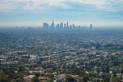 Vista di panorama di Los Angeles Fotografie Stock