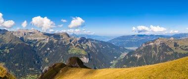 Vista di panorama a Mannlichen Immagine Stock