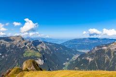 Vista di panorama a Mannlichen Fotografia Stock