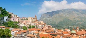 Vista di panorama di Maratea, Basilicata, Italia Fotografia Stock Libera da Diritti
