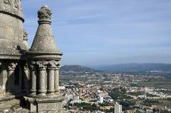 Vista di panorama sopra la città Viana do Castelo, Portogallo Fotografie Stock Libere da Diritti