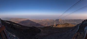 Vista di panorama sopra Tenerife con ombra della montagna di Teide, Spagna fotografie stock libere da diritti