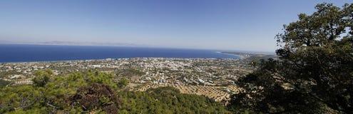 Vista di panorama sugli ialysos Fotografie Stock Libere da Diritti