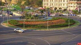 Vista di panorama di una rotonda a Tbilisi, Georgia immagine stock