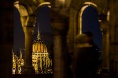 Vista di pariament di Budapest Immagini Stock