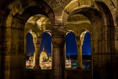 Vista di pariament di Budapest Immagine Stock Libera da Diritti